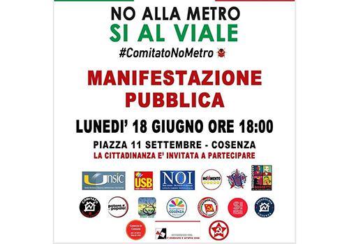 M5s aderisce alla manifestazione No Metro