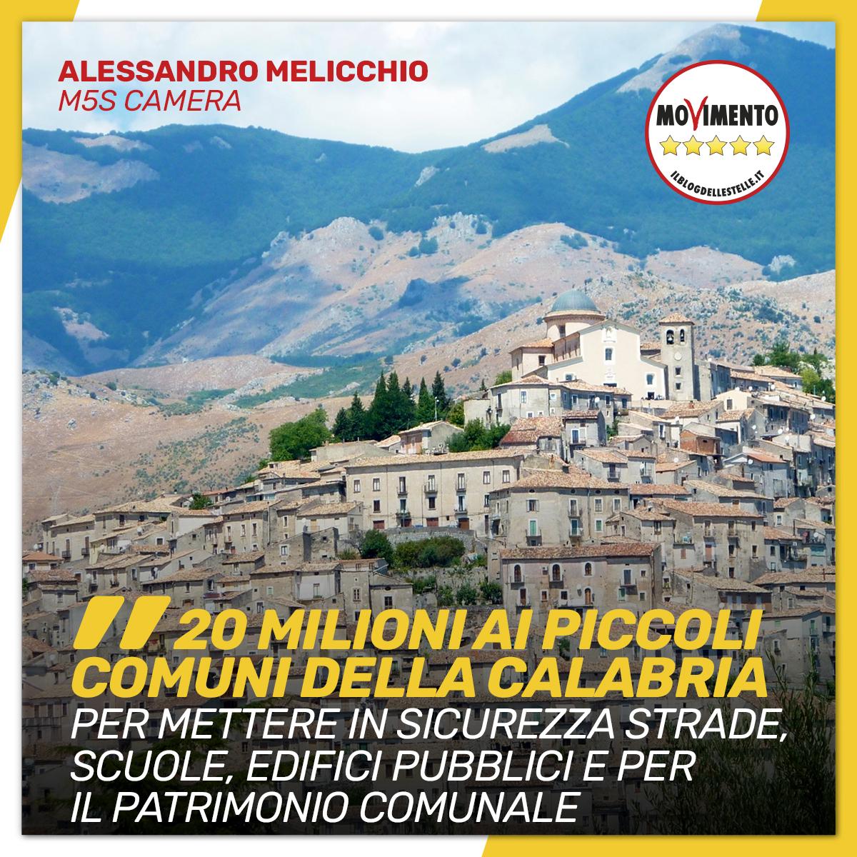 20 milioni per i piccoli comuni della Calabria
