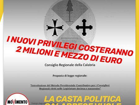 Calabria, in prima Commissione approvano la reintroduzione dei vitalizi
