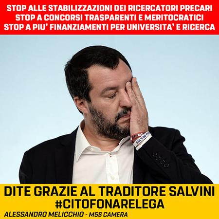 STOP AL RECLUTAMENTO DEI RICERCATORI