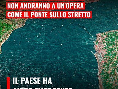 I SOLDI DEL RECOVERY PLAN NON ANDRANNO AD UN'OPERA COME IL PONTE SULLO STRETTO