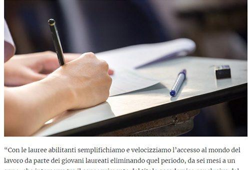 UNIVERSITÀ, LE LAUREE ABILITANTI VELOCIZZANO L'ACCESSO AL LAVORO