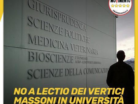 Università: M5S, inopportuna lectio vertici massoni a Teramo
