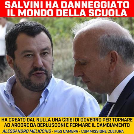 SALVINI DANNEGGIA IL MONDO DELLA SCUOLA