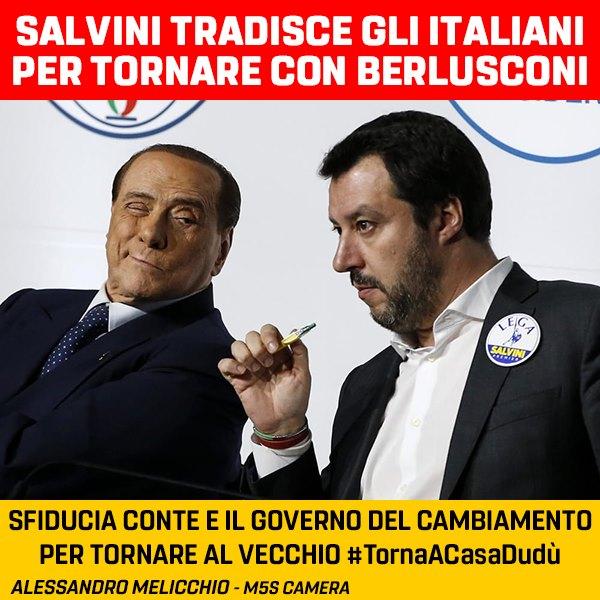 SALVINI HA TRADITO GLI ITALIANI PER TORNARE DA BERLUSCONI