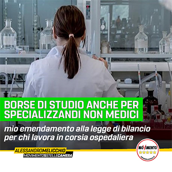 BORSE DI STUDIO ANCHE AGLI SPECIALIZZANDI NON MEDICI CHE LAVORANO IN CORSIA
