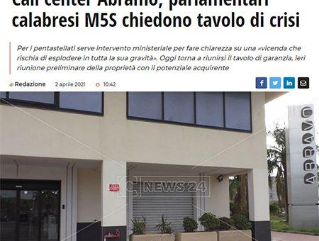 ABRAMO CUSTOMER CARE, I PARLAMENTARI CALABRESI DEL M5S CHIEDONO TAVOLO PERMANENTE AL GOVERNO
